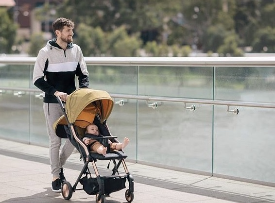 Nick – with baby and stroller shoot